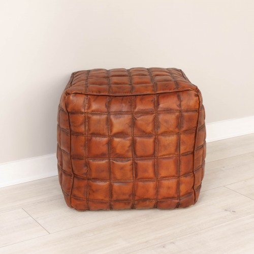 Checked Pouffe AJAY001