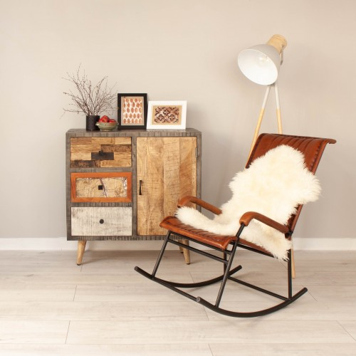 Leather Rocking Chair KESE006