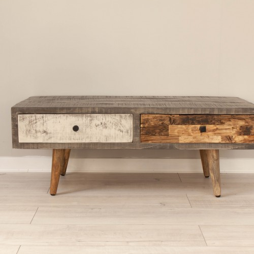 Low Console Table 2 Drawers CURI009